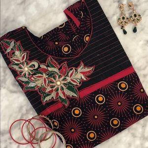 Indian Kurta | Floral Printed Sleeveless Tunic